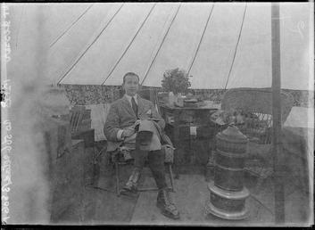 First World War Internee inside an Internment Tent,…