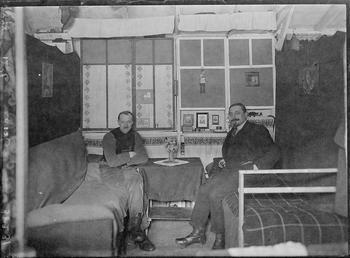 First World War internees inside an internment hut,…