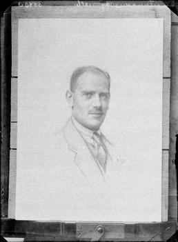 First World War Internee Artwork (Charcoal Drawing), Douglas…