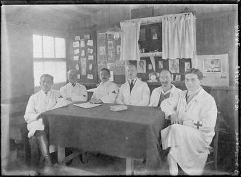 First World War Internee (Medical Staff) inside an…