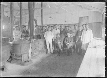 First World War Internees, Kitchen, Knockaloe Camp, Isle…