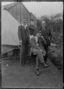 First World War Internees in front of a…