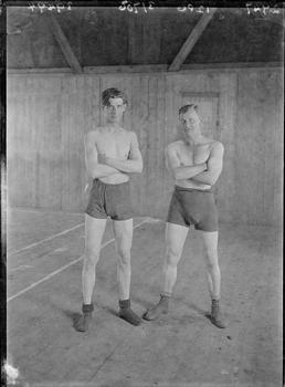 First World War Internees (Boxing) inside an Internment…