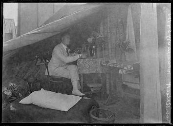 First World War Internee inside an Internment Tent…