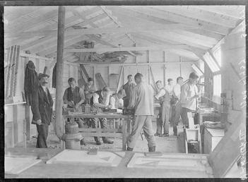 First World War Internees, Woodworking Workshop, Douglas or…