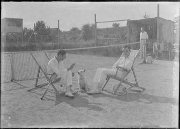 First World War Internees, Tennis Courts, Douglas Camp,…