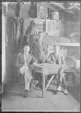 First World War Internees inside an Internment Hut,…
