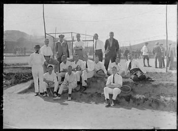 First World War Internee Tennis Club in front…
