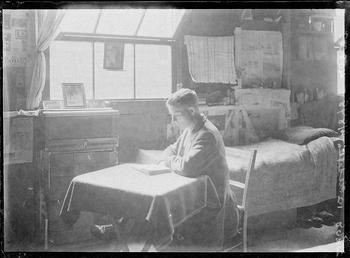 First World War internee inside an internment hut,…