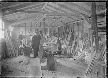 First World War Internees, Furniture-Making Workshop, Knockaloe Camp,…