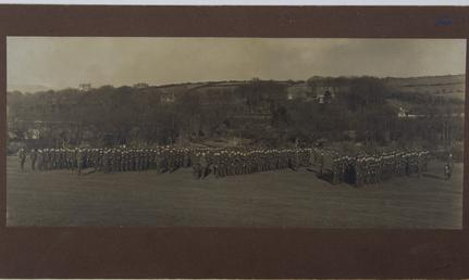 1st Manx Company on parade, First World War