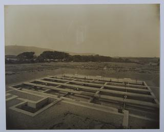 Sewage filter bed installed in 1914 to cater…