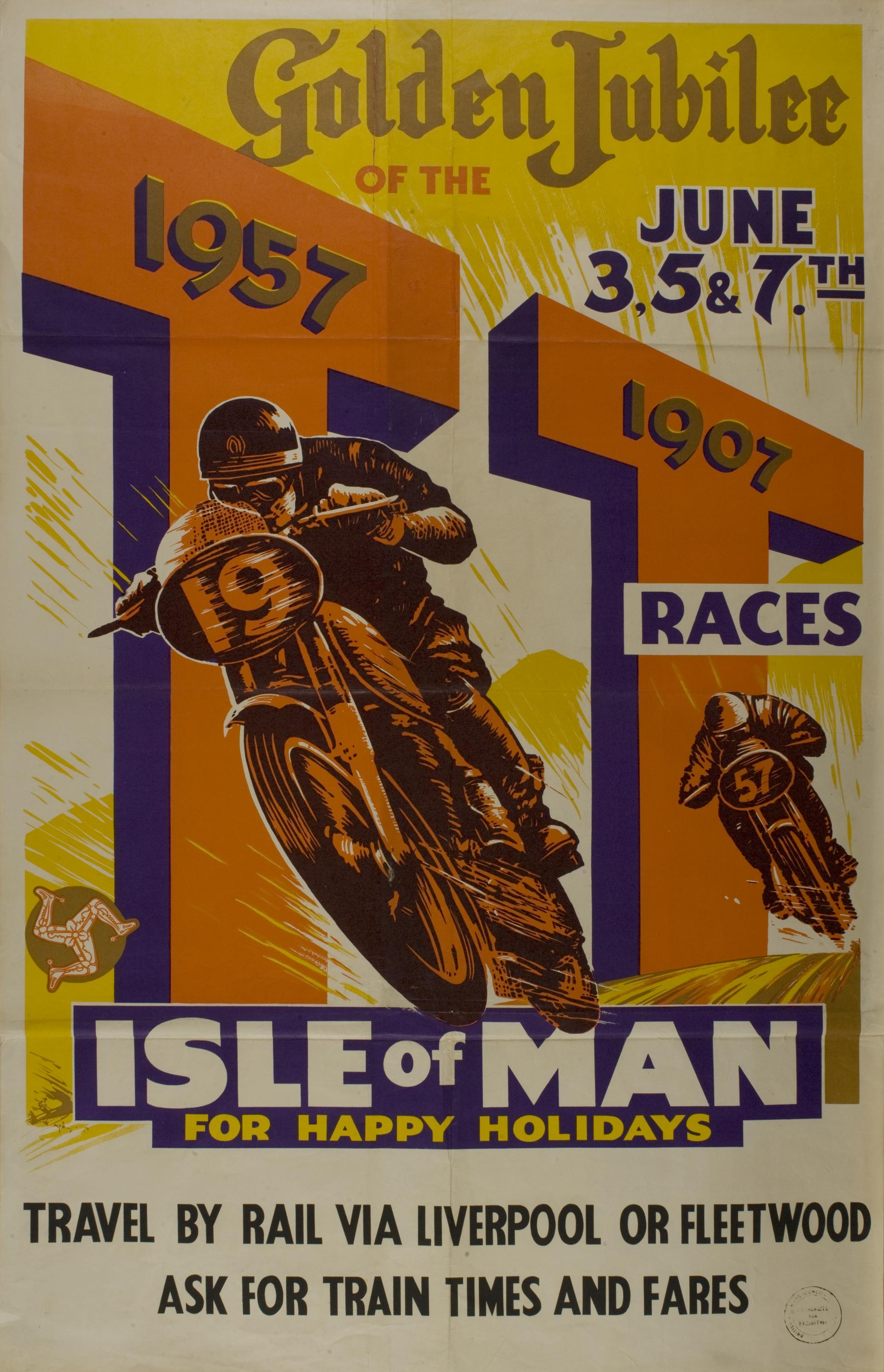 Golden Jubilee of the TT Races 1907-1957 - Print & Poster Archive - iMuseum