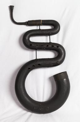 Musical instrument known as a Serpent