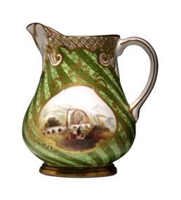 Rockingham-ware jug presented to Captain Richard Rowe