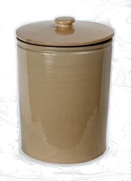 Leech jar from Brearey's pharmacy in Douglas