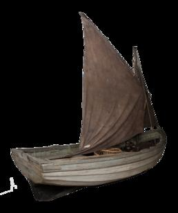 The punt for the Nickey or Manx fishing…