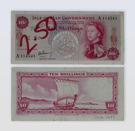 Isle of Man Government 'Garvey' ten shilling note