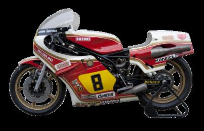 Suzuki RG 500 motorcycle ridden by Mike Hailwood…